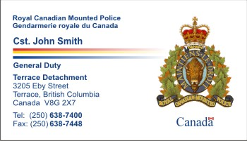 Policebusinesscards display business cards click to order this card country canada reheart Choice Image