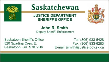 how to become a sheriff in saskatchewan