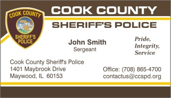 click to order this card - Police Business Cards