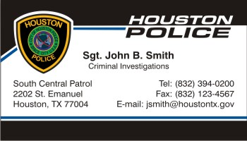 Police business cards houston best business cards policebusinesscards display business cards reheart Image collections